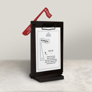 Clipboard Table Stand with Flip up Flag