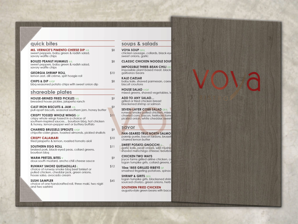 Formal Menu Cover with Side Flap