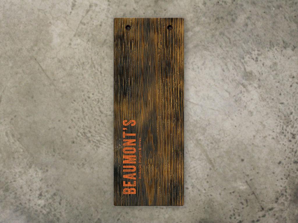 Torched Menu Board