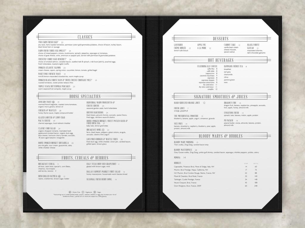 menu interior holds 2 inserts