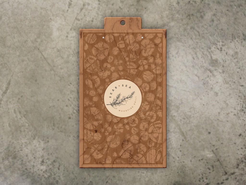 wood menu board laser engraved art of wood
