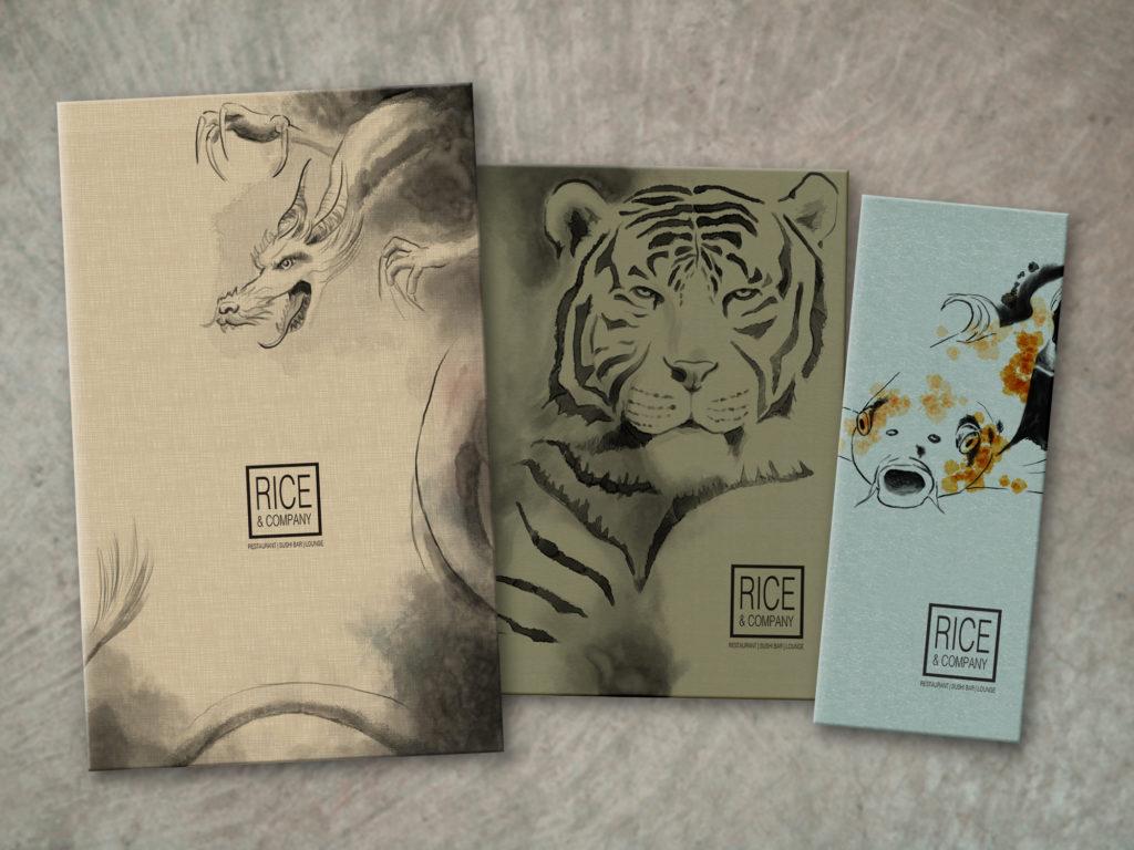 custom art ink wash illustrated covers