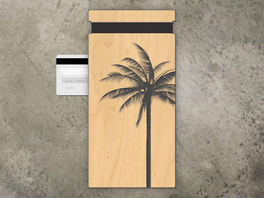 tropical beach check presenter light wood material