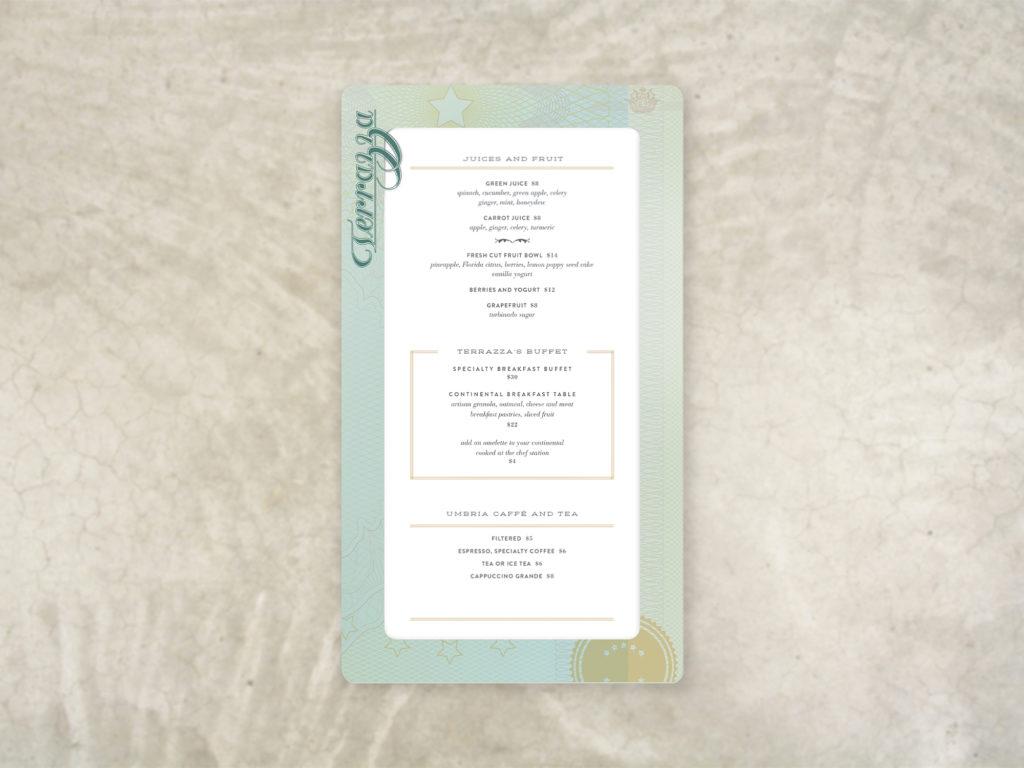 sophisticated menu sleeve